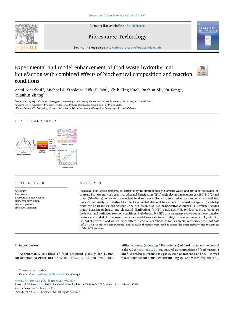 Aierzhati et al.   Bioresource Technol.  (2019)