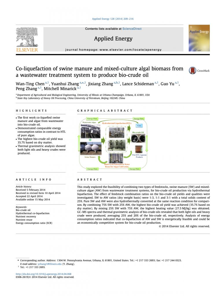 Chen et al.  Appl. Energ. (2014)