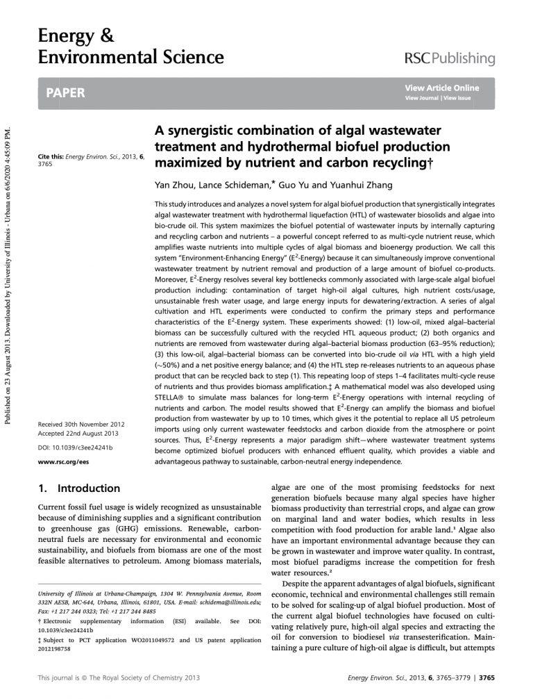 Zhou et al.  Energ. Environ. Sci. (2013)